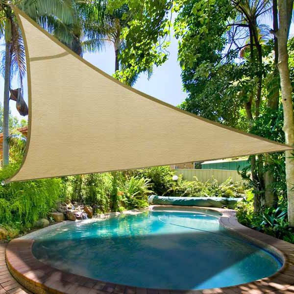 16 5 Triangle Outdoor Sun Shade Sail Canopy Desert Sand