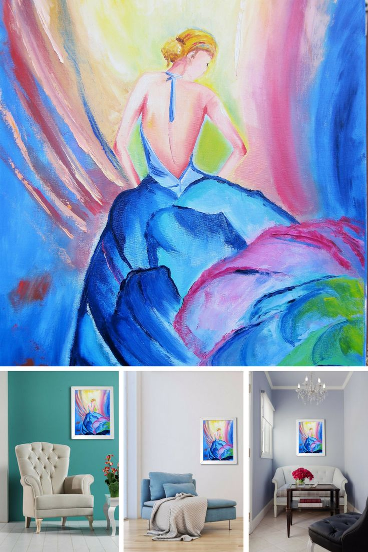 "A Dancer. Original Oil Painting on Canvas. Fine Art. Home Decor. Original Painting. Perfect Gift. Wall Art. Wall Decoration. Home Decoration. 2016, 18""x24"", 46x61 cm. Unframed. Ready to hang. Painted edges. CA$200.00"