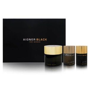Aigner Black by Etienne Aigner for Women Set by Etienne Aigner. $230.00. Product DescriptionBuy Etienne Aigner Gift Sets - Aigner Black by Etienne Aigner for Women 3 Piece Set : 4.25 oz Eau de Parfum Spray + 1.7 oz Body Lotion + 1.7 oz Hair Body Wash