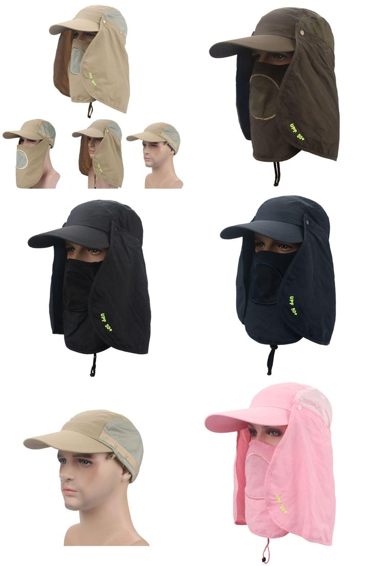 [Visit to Buy] UV Protection Face Neck Flap Sun Rain Cap Fishing Hiking Face Cover Hat #Advertisement