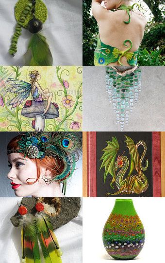 Spring Time! Green is Coming! What a joy! by Nicole Tremblay on Etsy--Pinned with TreasuryPin.com