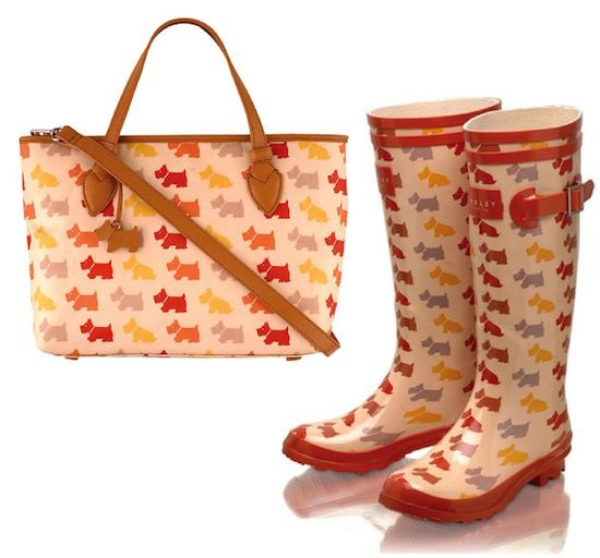 Radley Bag and matching wellies! buy a radley bag on http://fashionablehandbags.co.uk/
