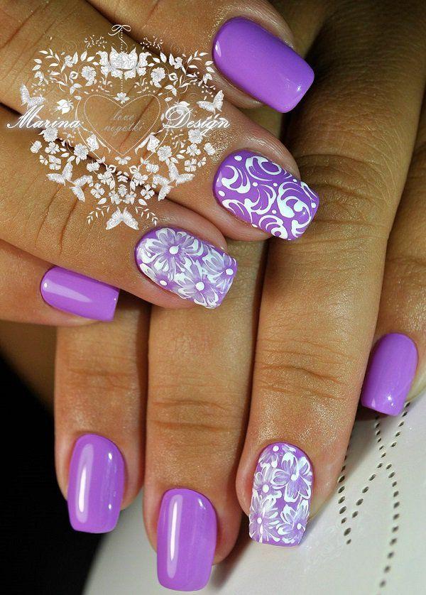 42+ Purple Nail Art Design – Spring Trends  – Nägel Design