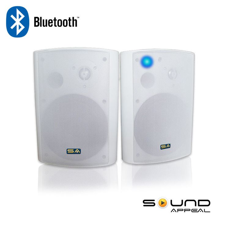 Wireless Outdoor Speakers with Bluetooth for deck, basement, or garage