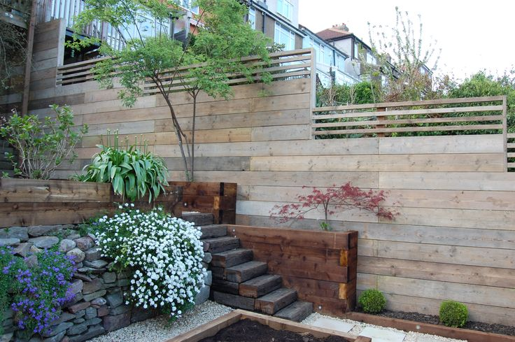 reclaimed scaffold board fence / Magic Garden <3