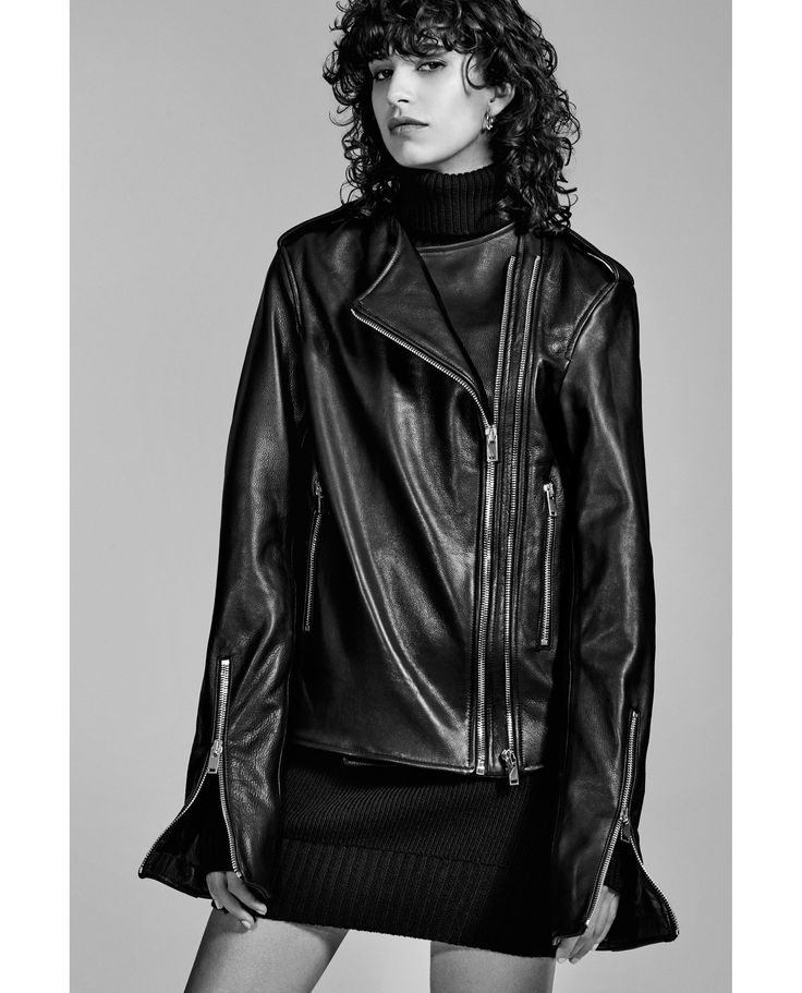 ZARA - WOMAN - LEATHER STUDIO JACKET