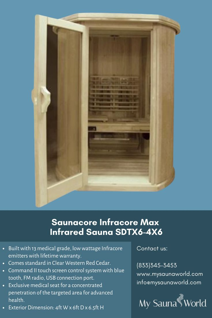 SaunaCore Infrared Sauna Infracore Max Sauna SDTX64X6