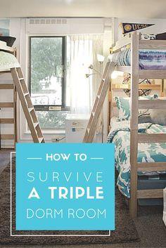 78 Ideas About Triple Dorm On Pinterest Dorm Ideas