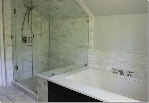 Carrera Marble Master Bath Beautiful Bathrooms Pinterest