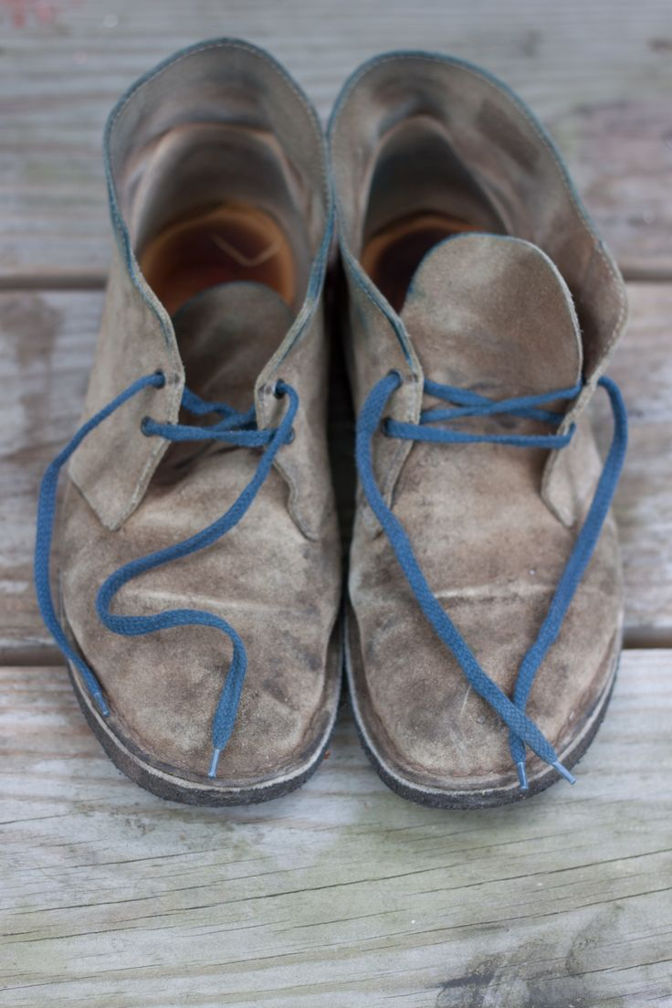 Chukka boots - great footware should be well loved, beautifully aged/worn in - love the blue laces