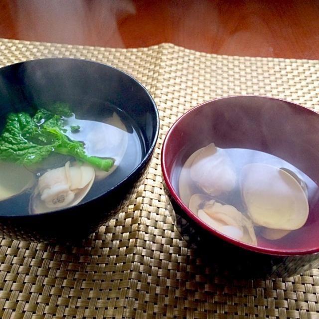母が作る予定だったけど、暇だったので初作ってみました♨️ - 91件のもぐもぐ - thin soup of Common orient clam蛤の潮汁 by Ami
