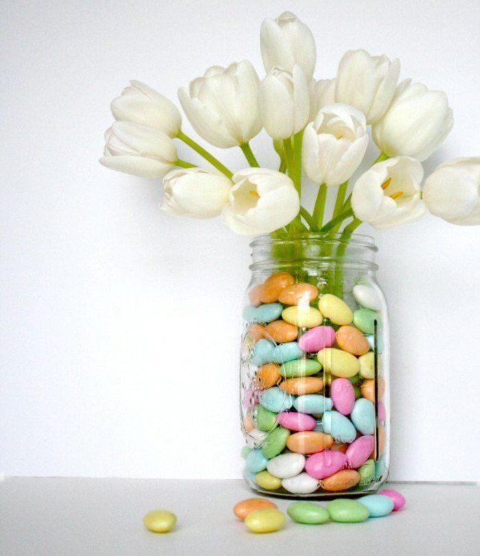 Les 25 meilleures id es de la cat gorie tulipes blanches sur pinterest fleurs blanches Bricolage printemps objets naturels idees