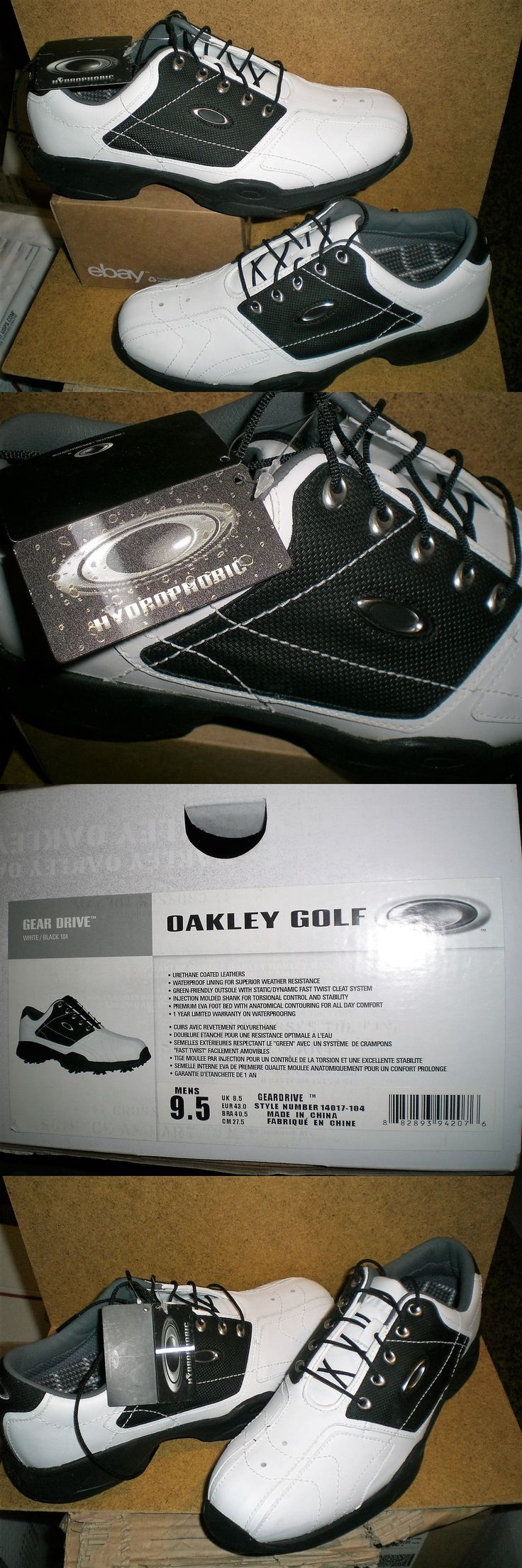 Other Mens Golf Clothing 181141: New Oakley Golf Shoe Men S 9.5 Gear Drive Black White Waterproof Beautiful Nwob -> BUY IT NOW ONLY: $44.88 on eBay!