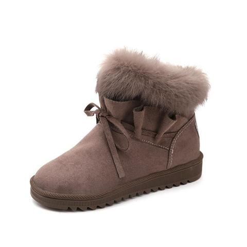 8c0515a481db Women s Fashion Fur Snow Boots in 2019