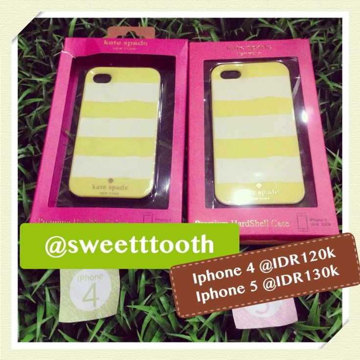 Kate Spade yellow stripes for iphone 5, IDR130.000