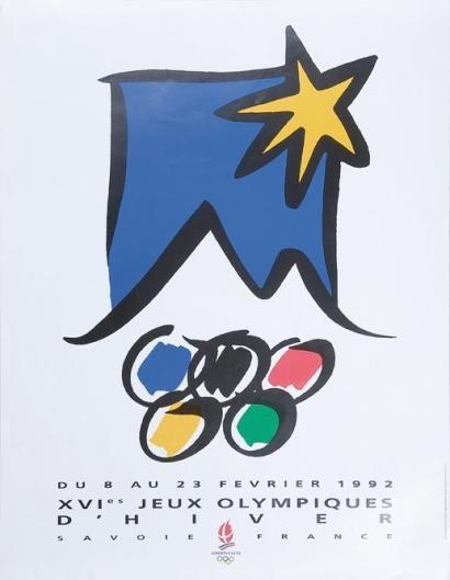 1992. Albertville Affiche officielle des XVIème Jeux Olympiques d'hiver