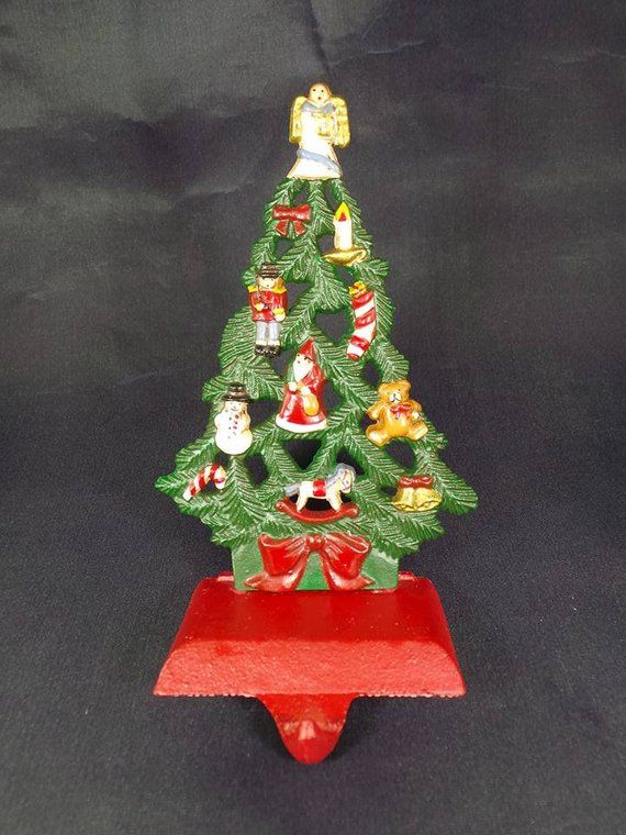 Christmas In Angel Falls Cast.1990 Midwest Christmas Tree With Angel Stocking Holder Cast