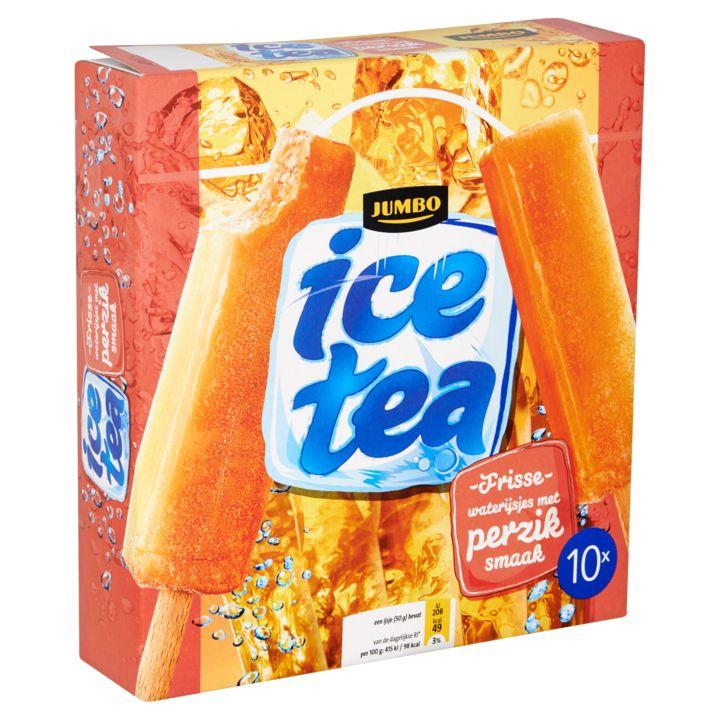 Jumbo Ice Tea Frisse Waterijsjes met Perzik Smaak 10 x 50g - Waterijsjes