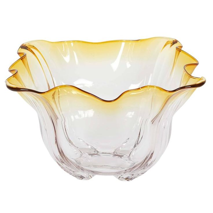Frederick Carder for Steuben Glass 'Grotesque' Amber Bowl   1stdibs.com