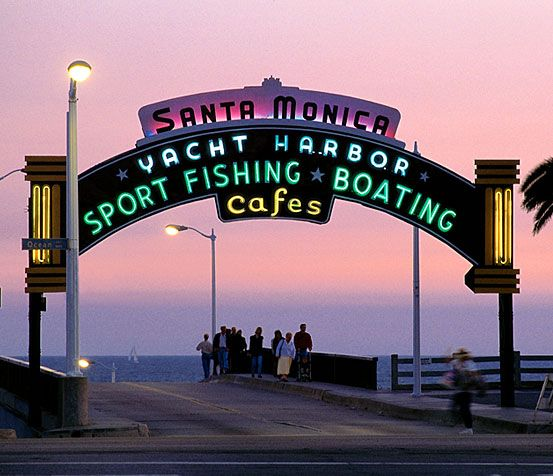 Santa Monica Pier My Great Grandma Marie owned a famous Fish Restaurant on the pier many years ago where countless movie stars would come to eat and visit with her. She was delightful!!!