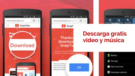 Mundo Cyberia: Snaptube para bajar música y videos a tu celular A...