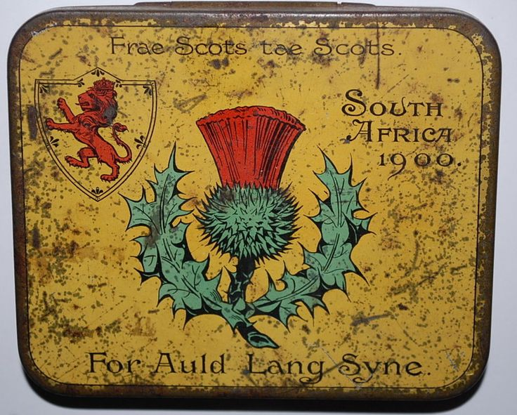 RARE SCOTTISH ARMY BOER WAR TOBACCO TIN SOUTH AFRICA 1900 Frae Scots tae Scots