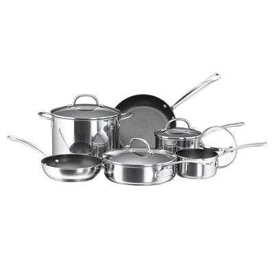 You'll love the Millennium Polished Stainless Steel 10 Piece Cookware Set at AllModern - With Great Deals on modern Dining & Kitchen  products and Free Shipping on most stuff, even the big stuff.