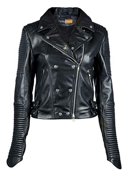 55afc8b40d8f Great for FE Quilted Black Biker Leather Jacket Women
