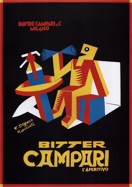 Fortunato Depero. Bitter Campari. 1928
