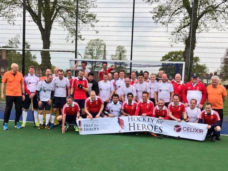 To celebrate the 450th anniversary of Rugby School, we played in a charity hockey game for Hockey for Heroes - a supporting charity of Help for Heroes who raises money to help our injured and fallen Heroes. #TeamCelixir #HockeyForHeroes