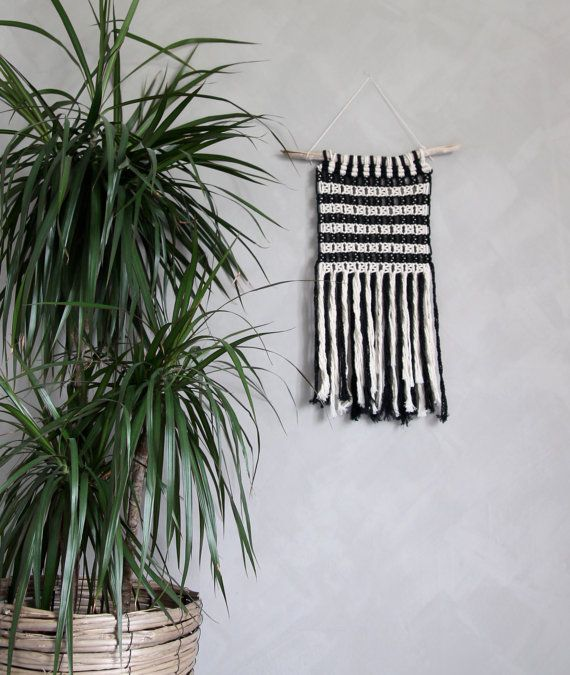 "Macrame Wall Hanging ""Aletheia"" by ByHelgaM on Etsy / Macramé / Walll Hanging / Macramee / Makrame / Makramé Wallhanging / Boho Wall Decor / Wall Art / African Boho / African Bohemian / Gipsy Deco / Black&White Macrame / B&w Wall Hanging"