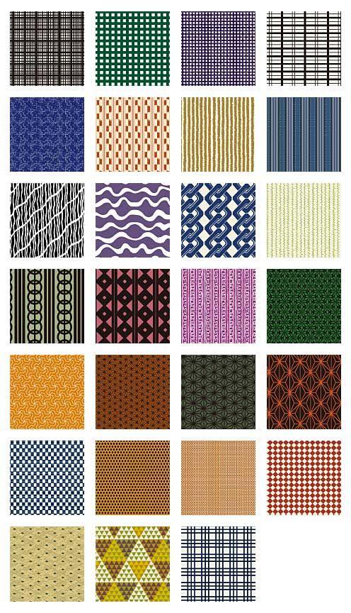 和柄の伝統文様やパターンを使った背景イラスト素材(11) もっと見る