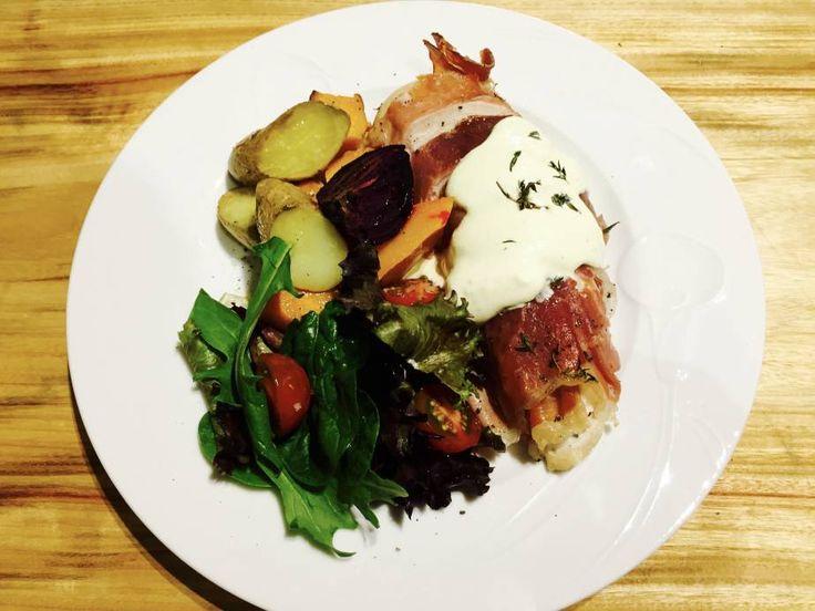Chicken, Prosciutto and Thyme with Dijon Cream