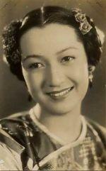 A charming vintage photo of the iconic Japanese actress Hara Setsuko (1920-2015)
