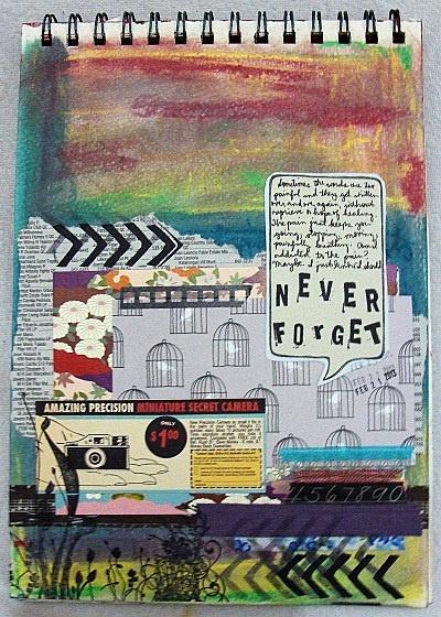 Never Forget (art journal challenge) - Scrapbook.com