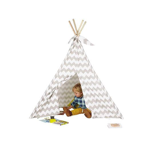 """Discovery Kids Canvas Tee-Pee - Gray Chevron - Discovery Kids - Toys """"R"""" Us"""