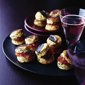 Indian-flavoured scones with onion chutney Recipe | delicious. Magazine free recipes