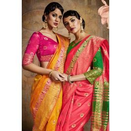 Wholesale Designer Occasional Wear Handloom Weaving Silk Saree Cataloge