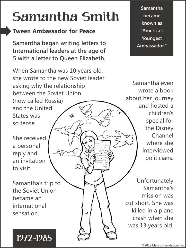 Samantha Smith-- Tween Ambassador for Peace...aMuse Journey