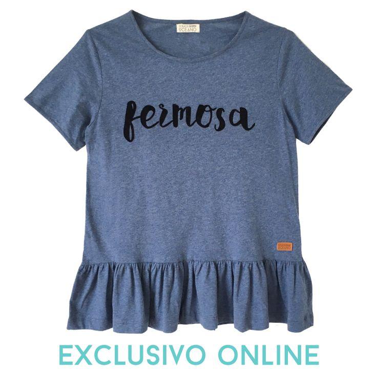 Camiseta Fermosa, terciopelo, camisetas originales, camiseta peplum, Galicia