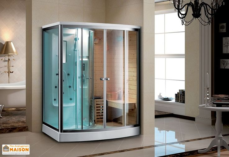 cabine de douche hydromassante sauna finlandais baignoire douche et spa pinterest saunas. Black Bedroom Furniture Sets. Home Design Ideas