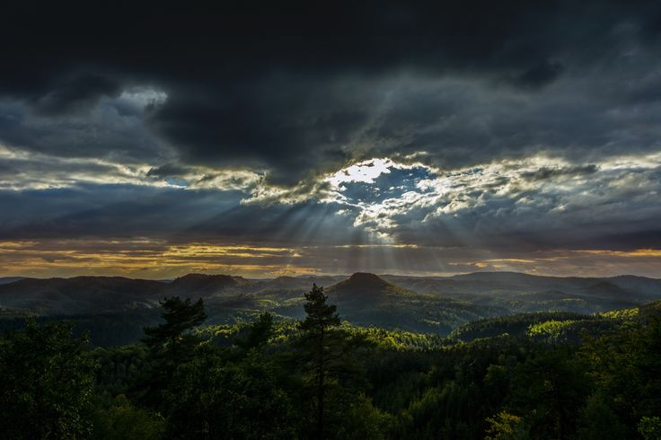 """https://flic.kr/p/GYvFK7   Hole In The Sky   I took this photo on one of the last days on my trip to saxony 2015. This day the weather was very rainy. But on the top of the mountain """"Königsstuhl"""" the clouds opened one big hole which filled the area with sunlight. It was just for a moment. The long way home was dark and difficult.   Das Foto entstand an einem der letzten Tag auf meinen Sächsischen Schweiz Trip 2015. An diesem Tag gab es eigentlich nur schlechtes Wetter. Doch an der ..."""