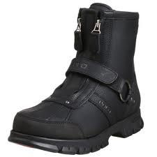 All black polo boots