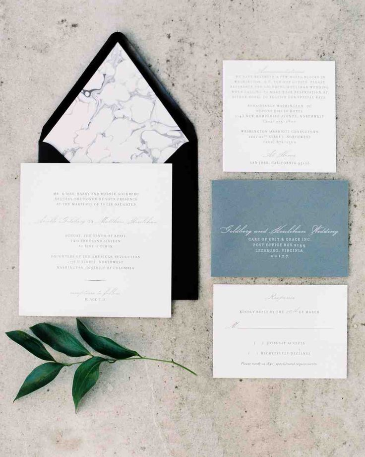 a modern black tie wedding in washington dc martha stewart weddings - Black Tie Wedding Invitations