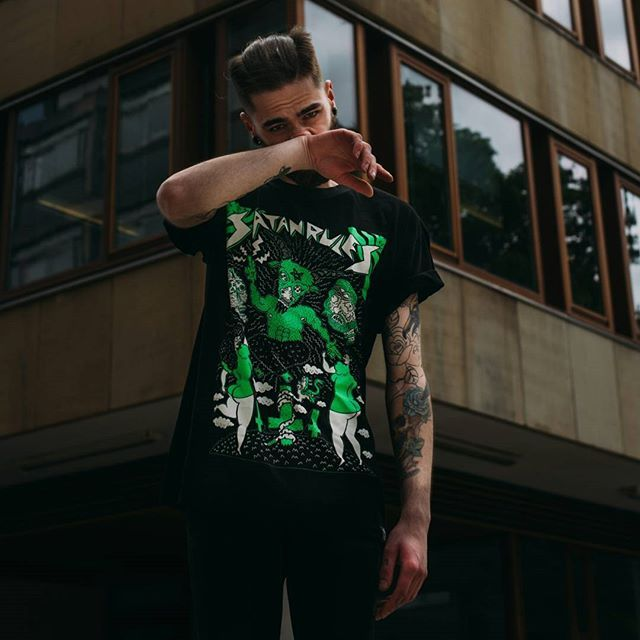"CRMC X @russelltaysom ""Satan Rules"" Tee available at www.crmc-clothing.co.uk 
