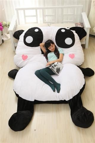 Cartoon Bed Panda With Heart In 2019 Kids Sofa Sofa Bed