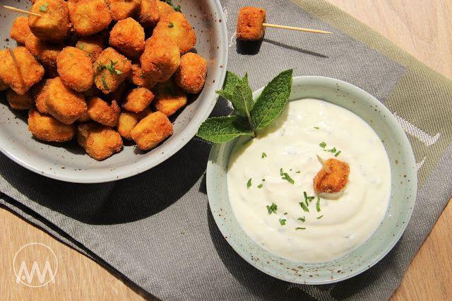 V kuchyni vždy otevřeno ...: Lilkový snack s jogurtovým dipem