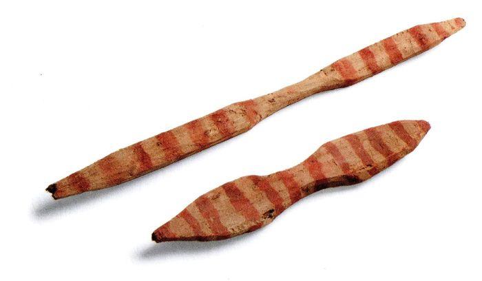 Miniaturas de remos, Pescadores Tardíos de Arica, 1000-1535 d.C. Museo Chileno de Arte Precolombino Nº (Changos 2008: 34).