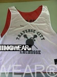 Get Traverse City Lacrosse Team Pinnies - Cherry Bomb Lax Pinnies - Traverse City Michigan Lacrosse Pinnies