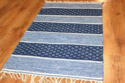 Tapis chiffons - Visby (bleu)
